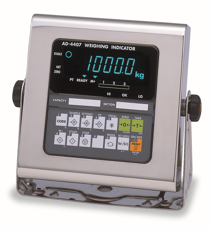 A&D AD-4407 IP65 Weighing Indicator