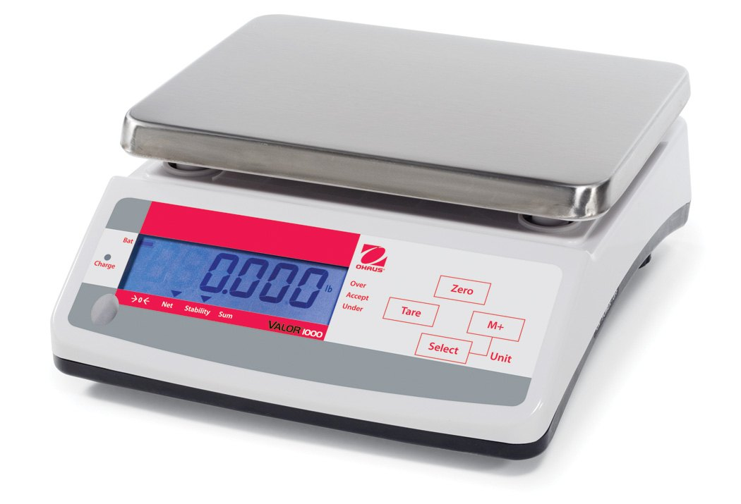 Ohaus Valor 1000 V11P30 30kg x 5g Compact Food Scale